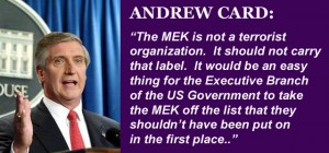 Andrew Card Calls for Delisting of MEK