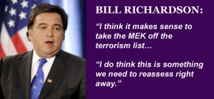 Bill Richardson Calls for Delisting of MEK