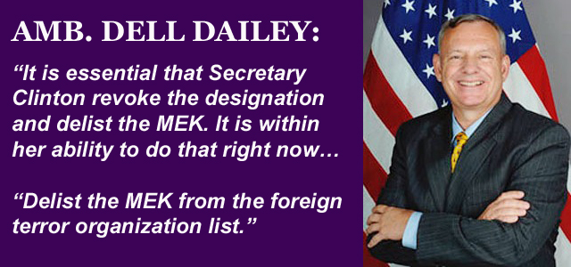 Dell Dailey Calls for Delisting of MEK