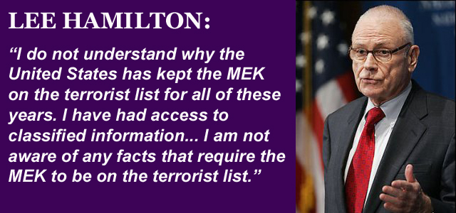 Lee Hamilton Calls for Delisting of MEK