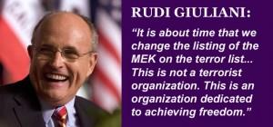 Rudi Giuliani Calls for Delisting of MEK