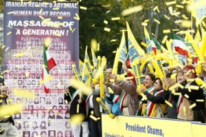 Hundreds rally in support of Iranian opposition